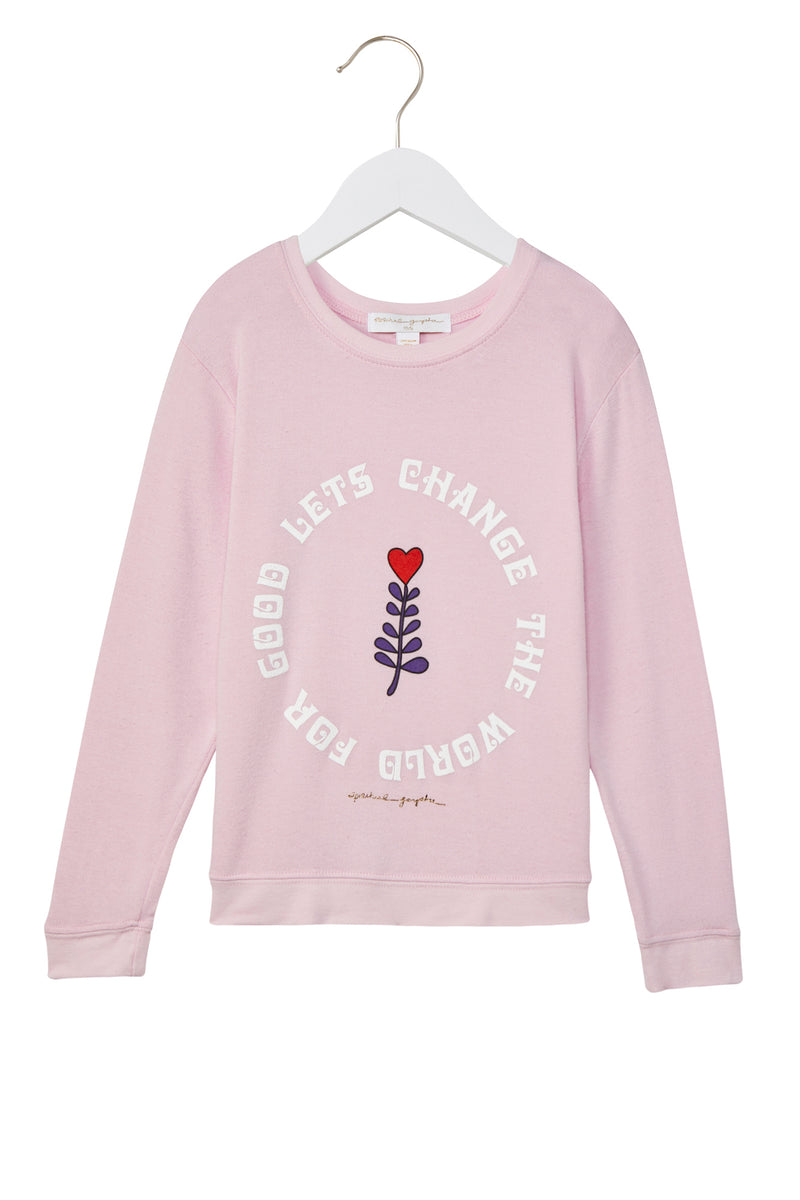 Lets Change the World Kids Savasana Pullover