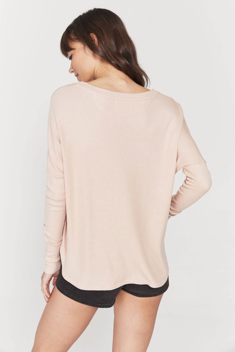 Plunge Long Sleeve V Neck