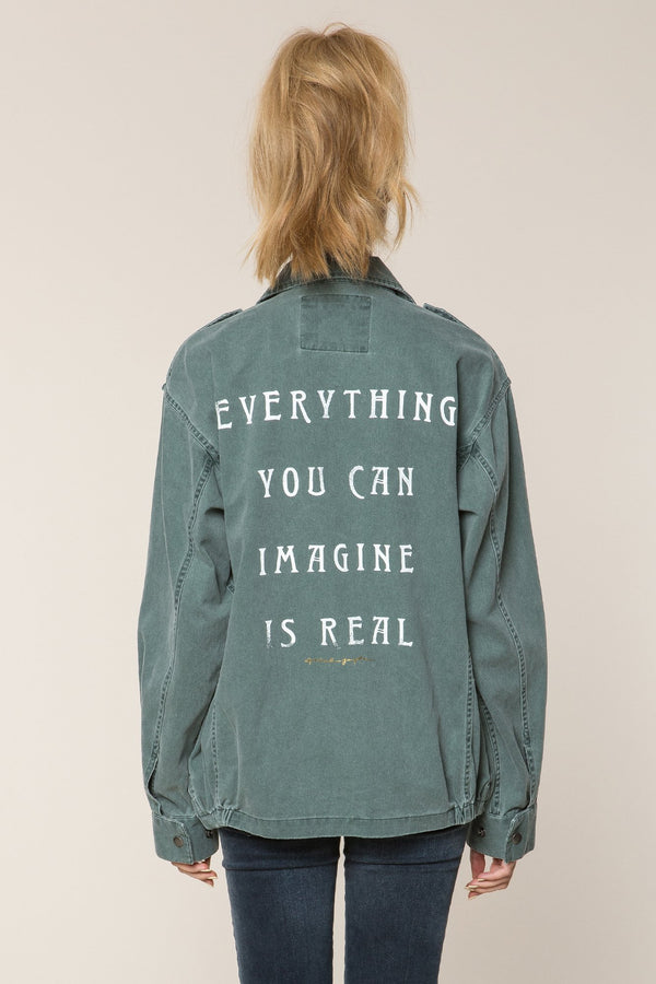 EVERYTHING IS REAL ARMY JACKET - Spiritual Gangster