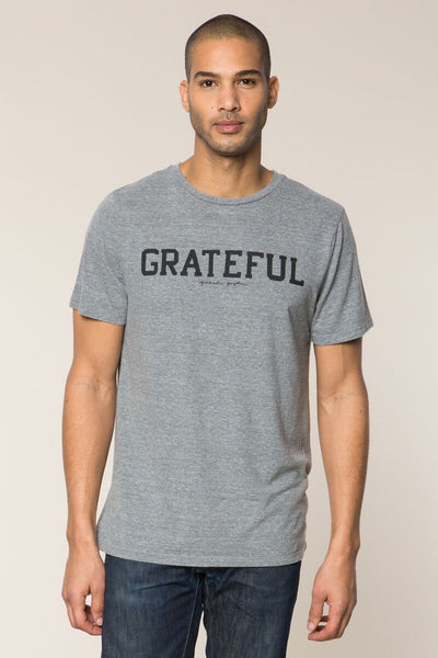 Grateful Tee Heather Grey - Spiritual Gangster