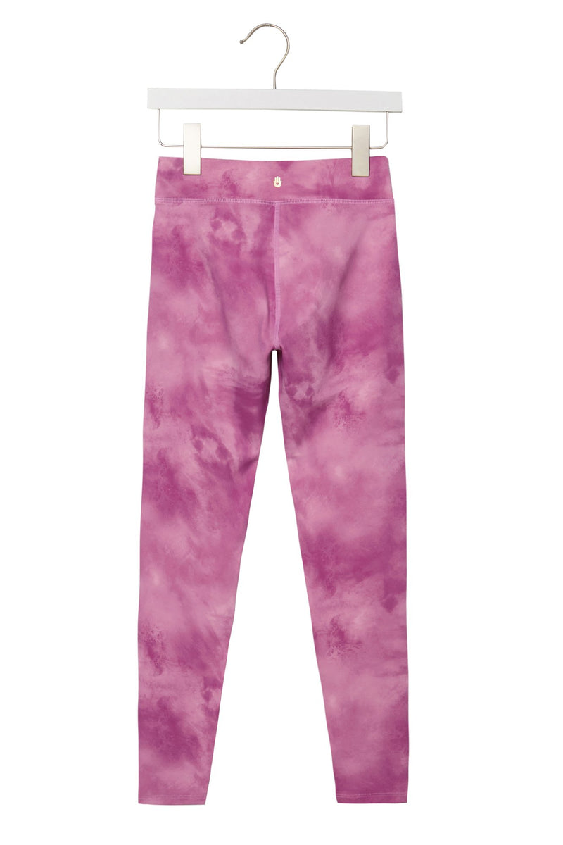 GIRLS SUNSET TIE DYE ACTIVE LEGGINGS