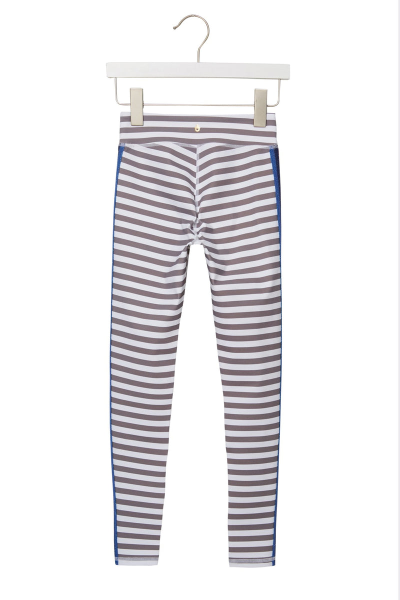 GIRLS ACTIVE LEGGINGS TINY STRIPE PRINT