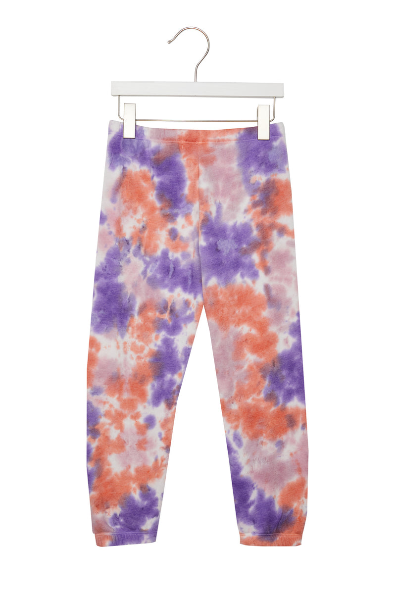 Girls Perfect Sweatpant Purple/Sherb/Lav Tie Dye