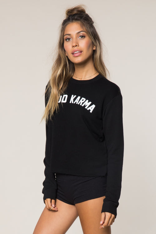 Good Karma Arch Crop Sweatshirt - Spiritual Gangster