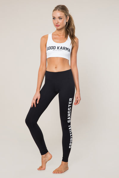 GOOD KARMA ATHLETIC BRA WHITE - Spiritual Gangster
