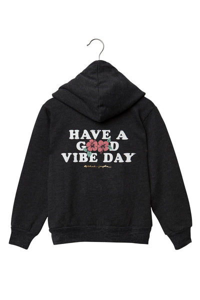 GOOD VIBE DAY KIDS PULLOVER HOODIE VINTAGE BLACK - Spiritual Gangster