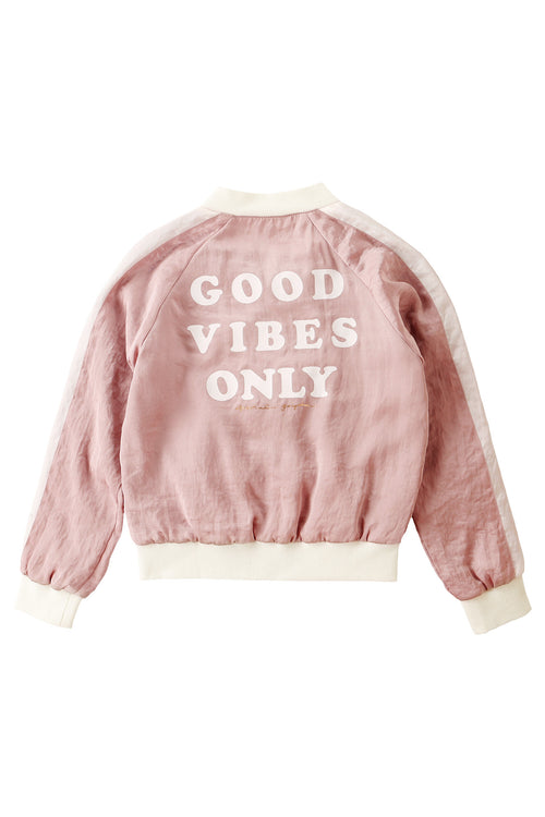 Good Vibes Only Girls Satin Jacket (10-12) - Spiritual Gangster