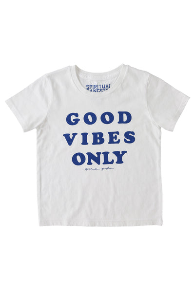 Good Vibes Only Kids Tee White - Spiritual Gangster