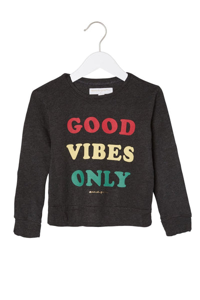 GOOD VIBES ONLY KIDS SWEATSHIRT - Spiritual Gangster