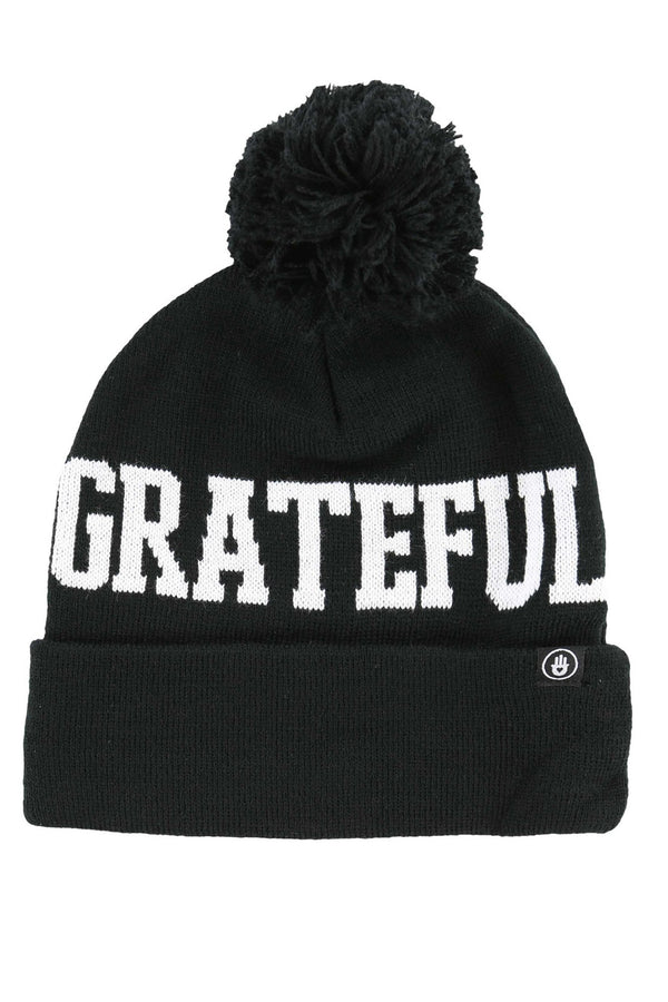 GRATEFUL KNIT POM BEANIE - Spiritual Gangster