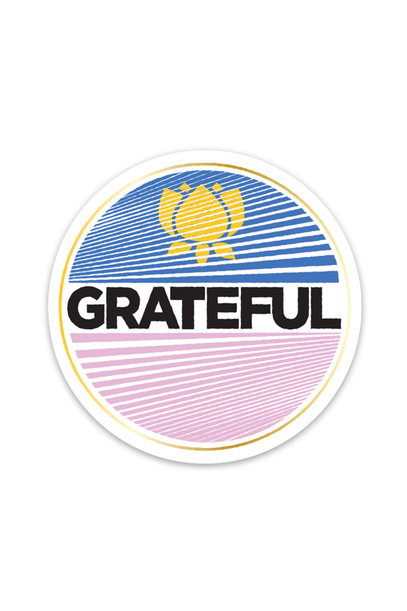 Grateful Lotus Vinyl Sticker