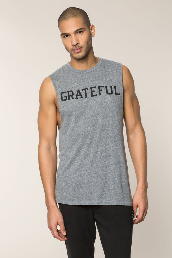GRATEFUL BURNOUT MENS MUSCLE TANK - Spiritual Gangster