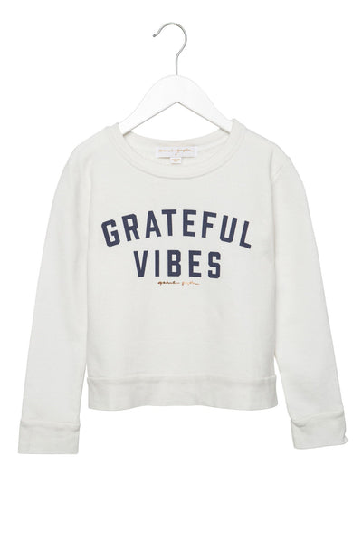 GRATEFUL VIBES KIDS SWEATSHIRT - Spiritual Gangster