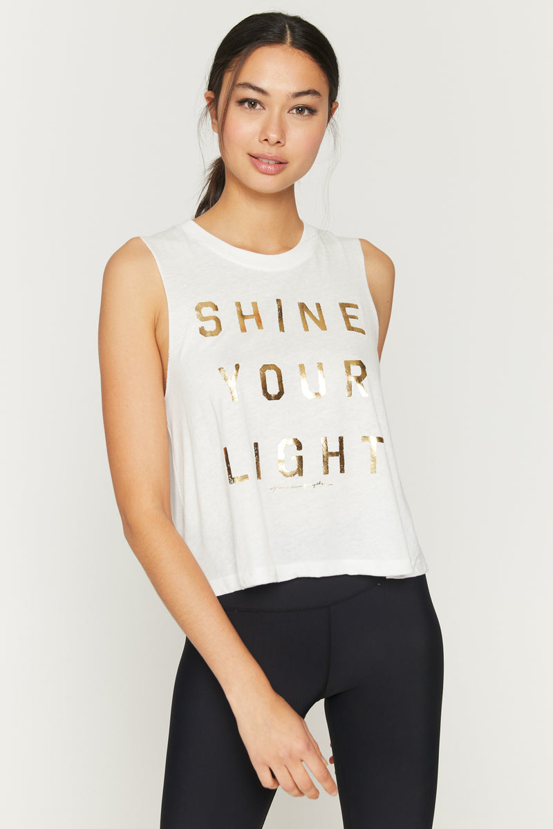 SHINE YOUR LIGHT CROP TANK
