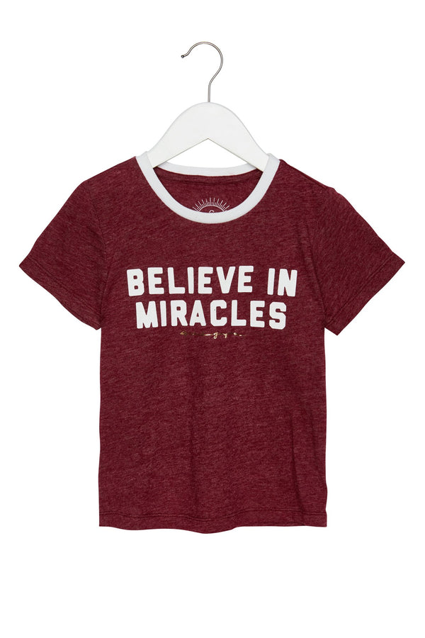 BELIEVE IN MIRACLES KIDS TEE - Spiritual Gangster