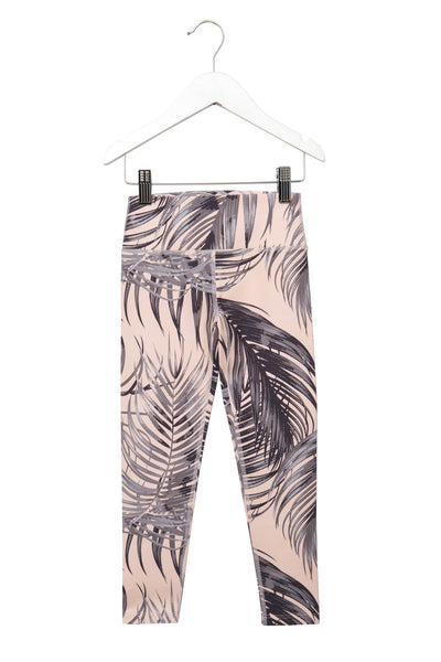 KIDS ACTIVE LEGGINGS PALM PRINT - Spiritual Gangster