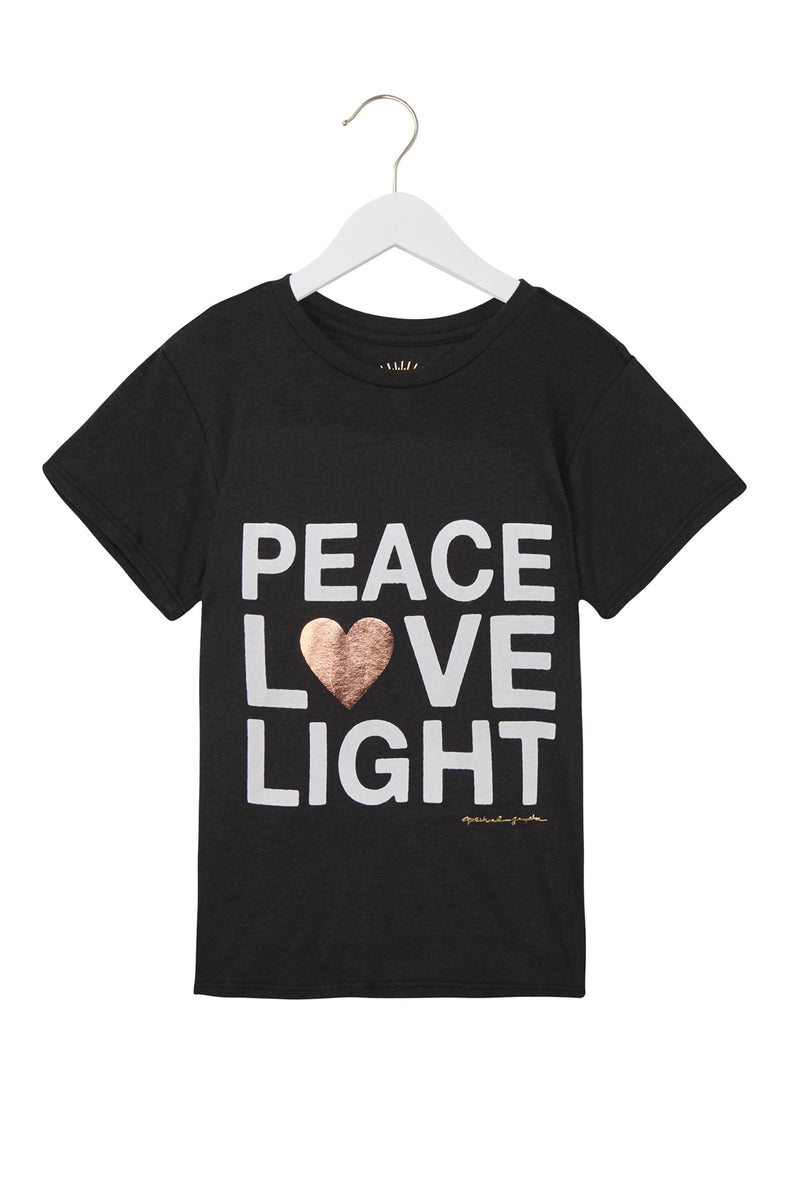 PEACE LOVE LIGHT KIDS TEE