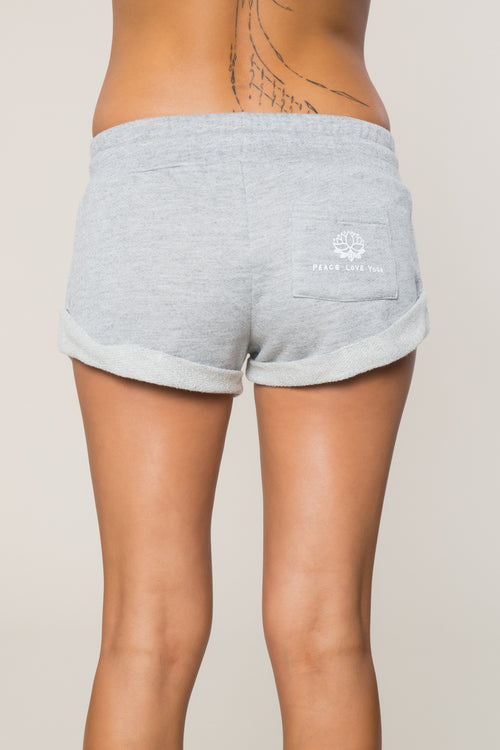 Peace Love Yoga Roll Up Short - Spiritual Gangster