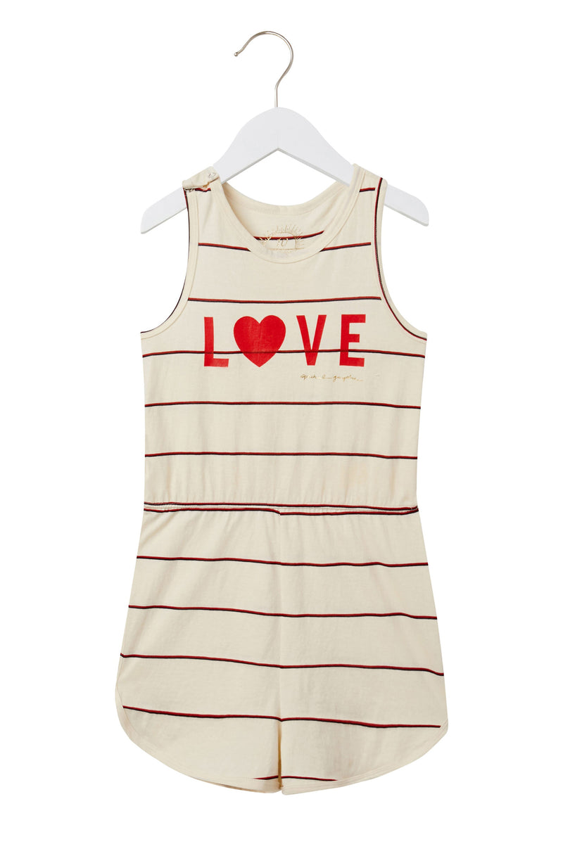 LOVE GIRLS FLUTTER ROMPER