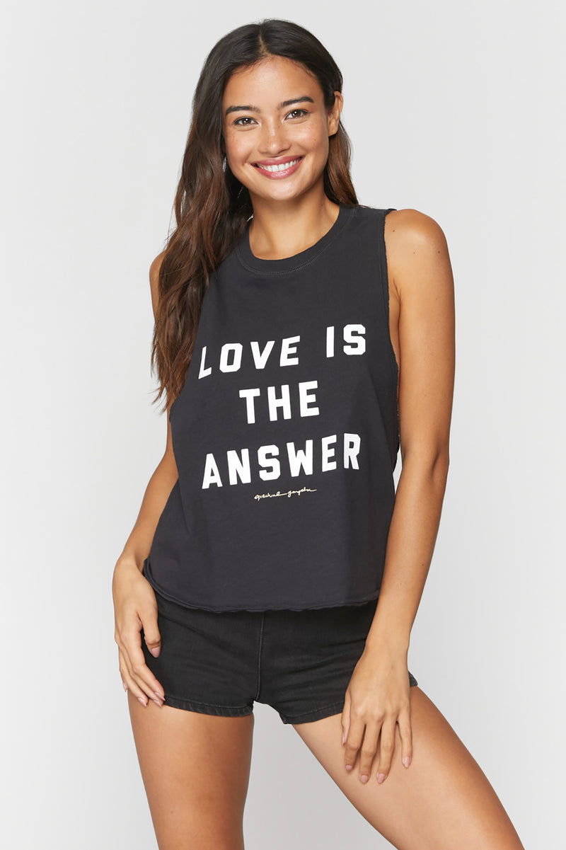 Love Is the Answer Surplice Tank