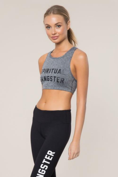 SG Collegiate High Neck Bra Grey - Spiritual Gangster