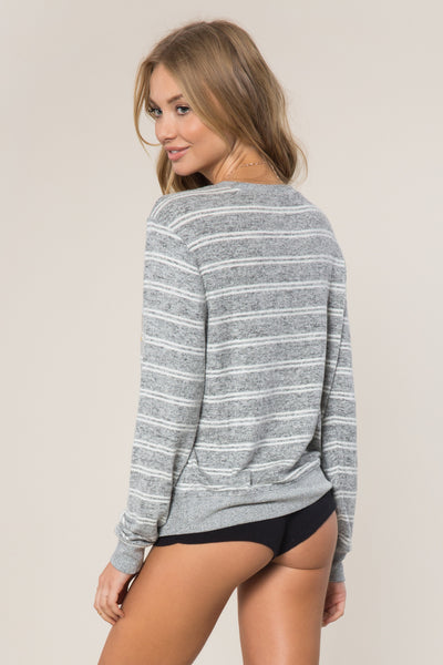 SG Collegiate Striped Savasana Pullover - Spiritual Gangster - 4