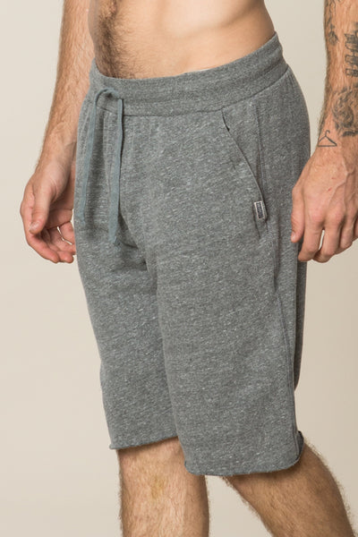 SG Varsity Fleece Short Heather Grey - Spiritual Gangster