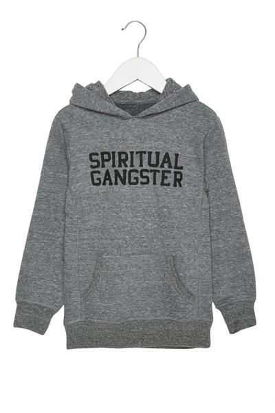 SG KIDS VARSITY PULLOVER HOODIE HEATHER GREY - Spiritual Gangster