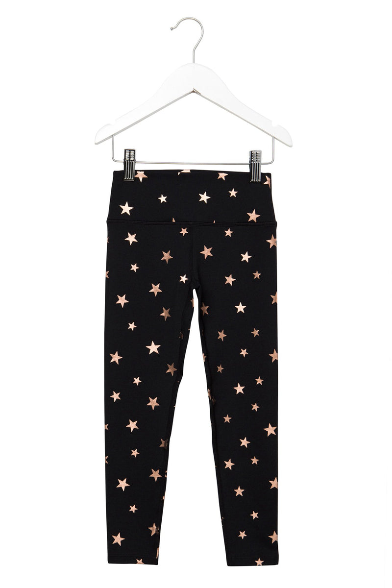 Kids Active Leggings Starry Vibes Black