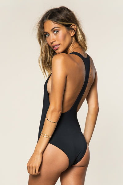 Good Vibes Statement Swim One Piece