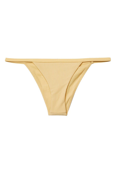 SUNRISE RIBBED BIKINI BOTTOM YELLOW - Spiritual Gangster