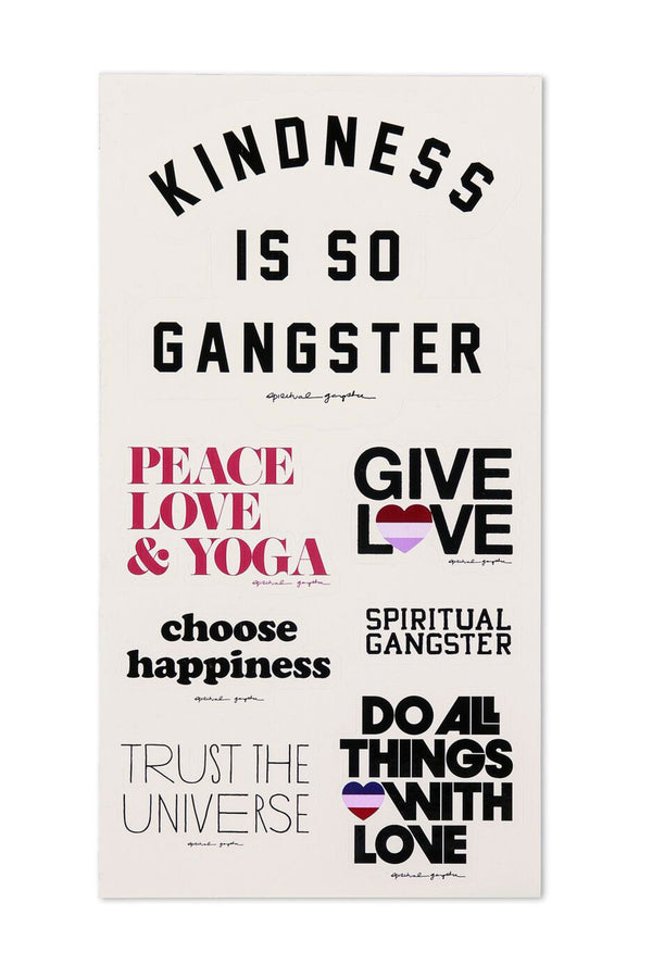 STICKER SHEET WHITE - Spiritual Gangster