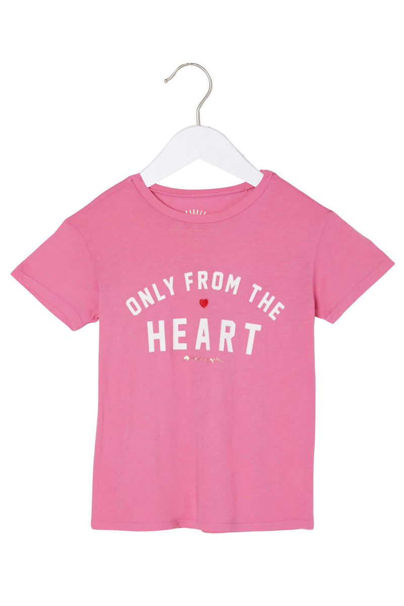 ONLY FROM THE HEART GIRLS TEE