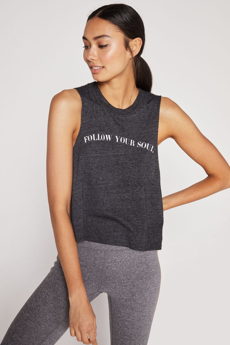 FOLLOW YOUR SOUL CROP TANK