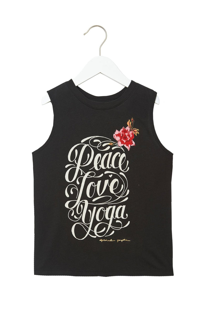 Peace Love Yoga Girls Muscle Tank