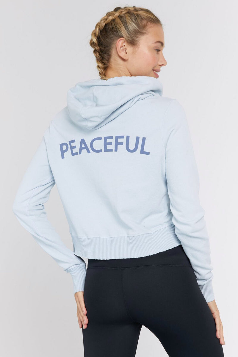 PEACEFUL RAW EDGE HOODIE