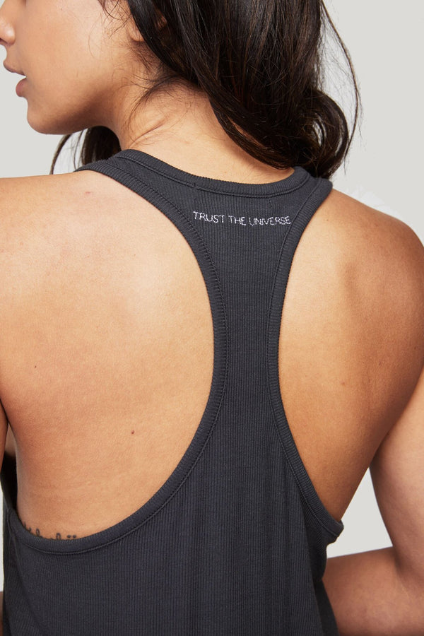 TRUST THE UNIVERSE RACERBACK GIRLFRIEND TANK