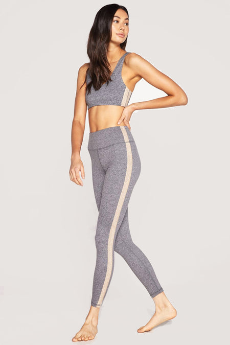 SHIMMER STRIPE 7/8 HIGH WAIST STRIPED LEGGING AURORA SKY