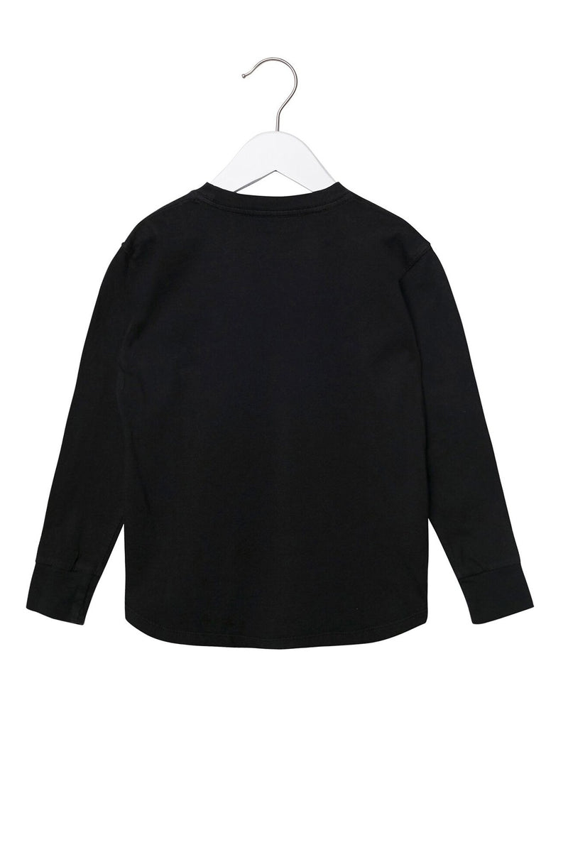 Stars Long Sleeve Kids Tee Black