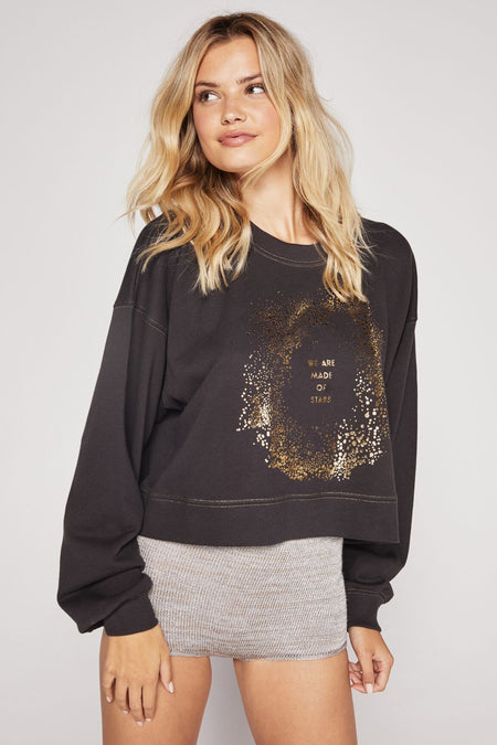 STARRY PRINT PERFECT SWEATPANT SPARKLE HEATHER