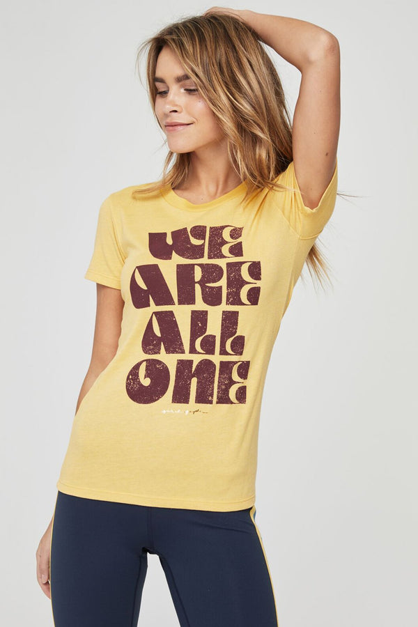 WE ARE ONE SHRUNKEN TALLY TEE GOLDEN SUN - Spiritual Gangster