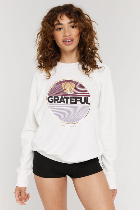 KEEP YOUR HEAD UP CREWNECK SWEATER SPRUCE