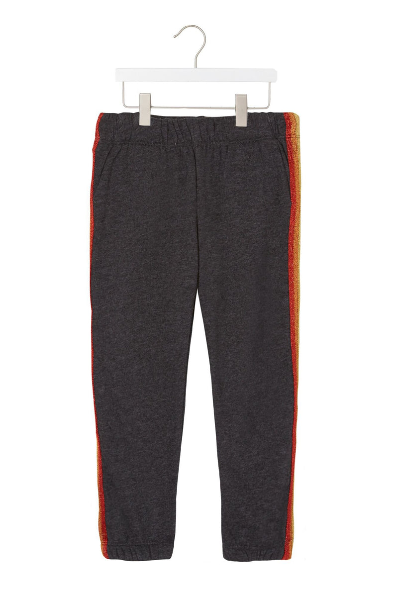 GIRLS FAVE RAINBOW STRIPED SWEATPANT