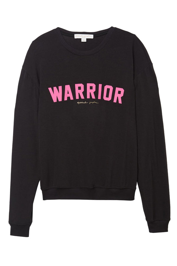 WARRIOR BREAST CANCER AWARENESS SAVASANA PULLOVER