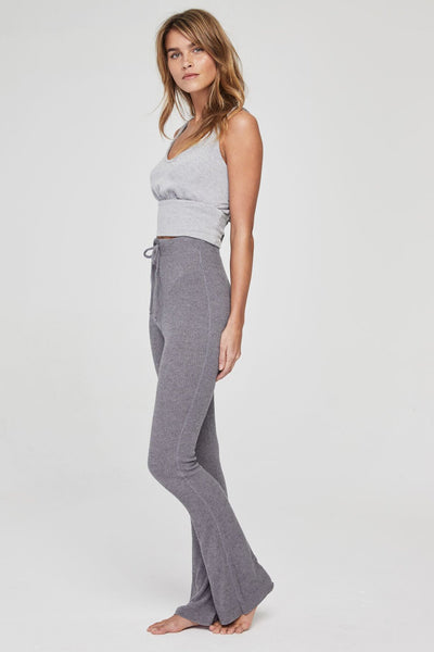 HIGH RISE BELL PANT HEATHER GREY - Spiritual Gangster