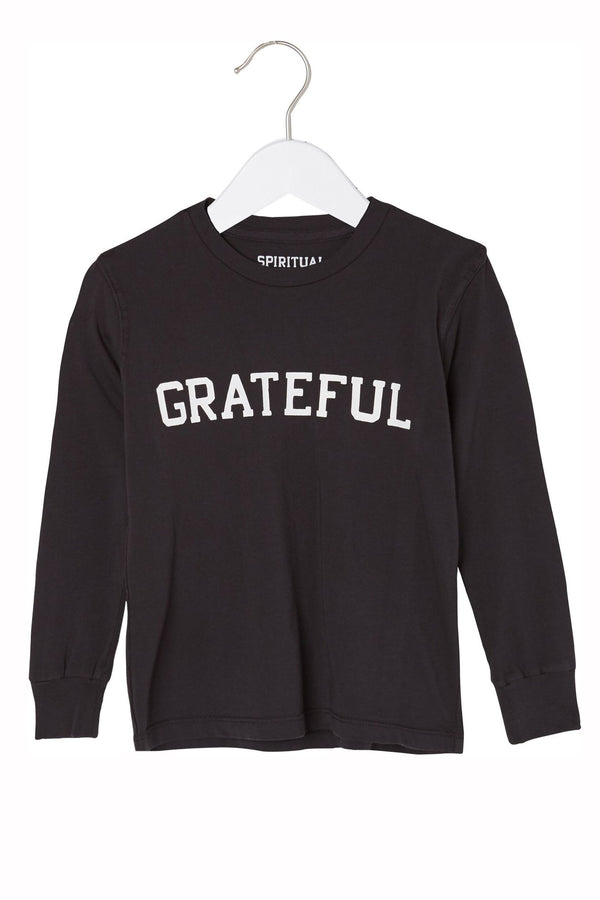GRATEFUL LONG SLEEVE KIDS TEE - Spiritual Gangster