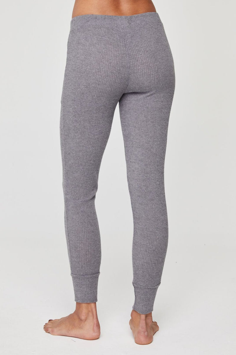 Rib Tapered Jogger Heather Grey
