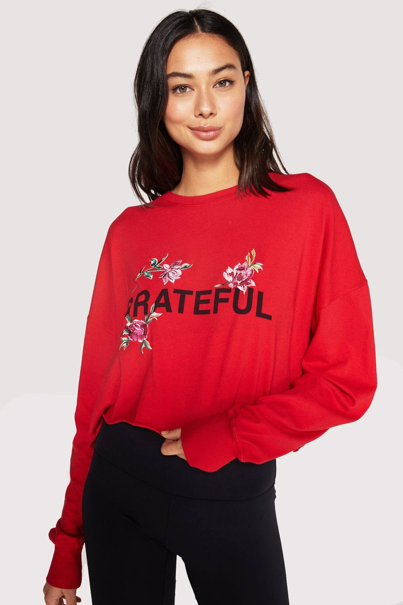 Grateful Oversized Cutoff Ls Tee