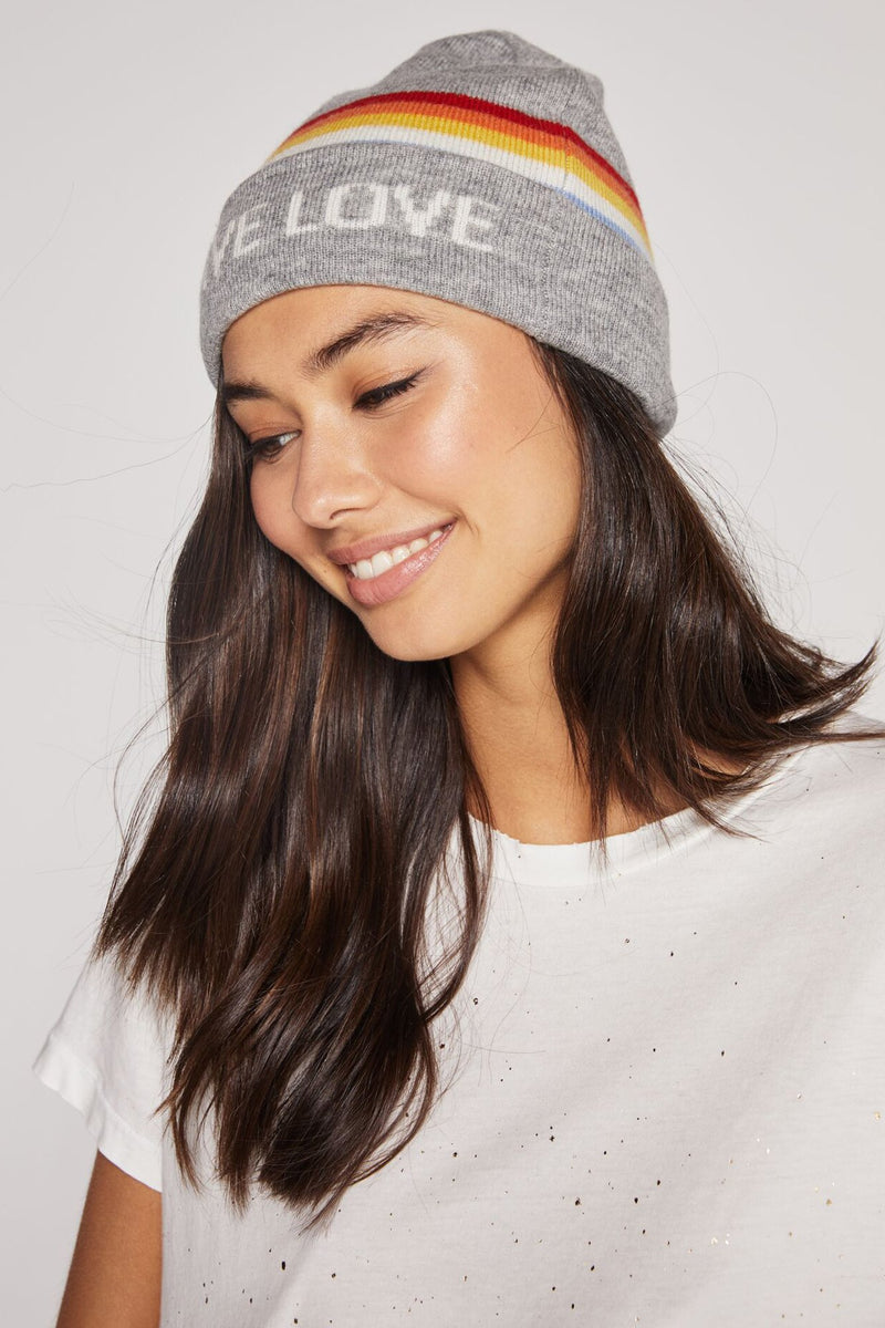 GIVE LOVE INTARSIA BEANIE