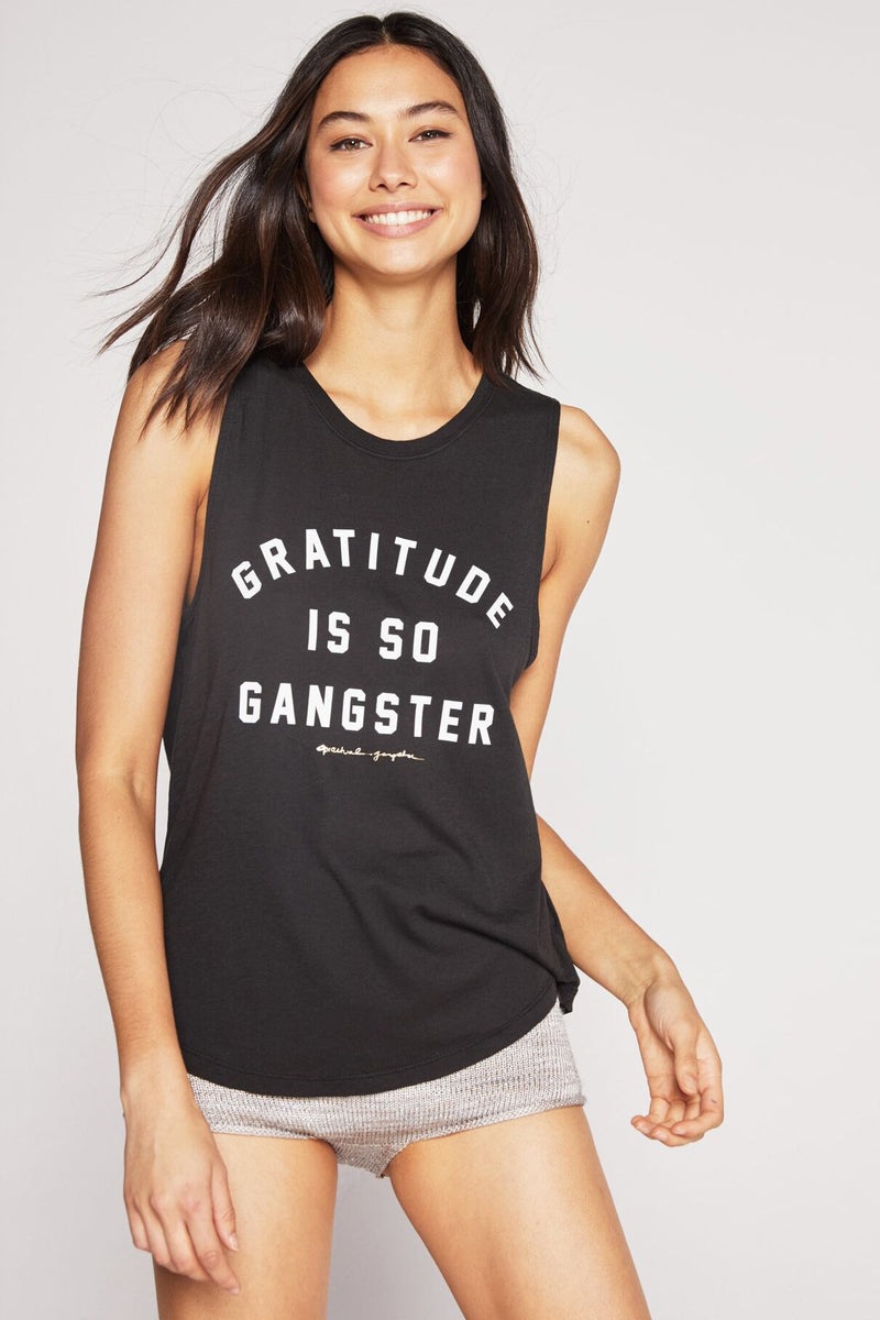 Gratitude is so Gangster Muscle Tank